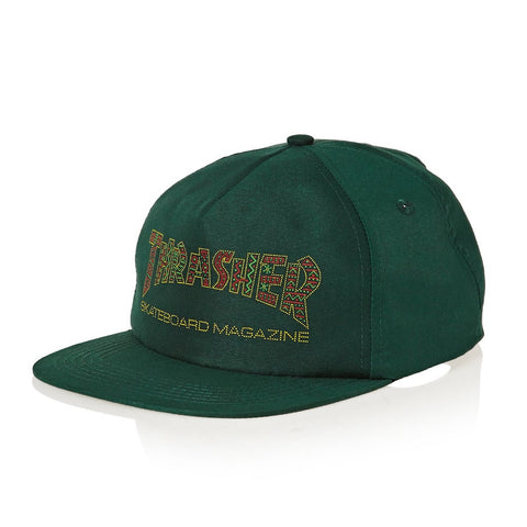 THRASHER DAVIS CAP - FOREST GREEN