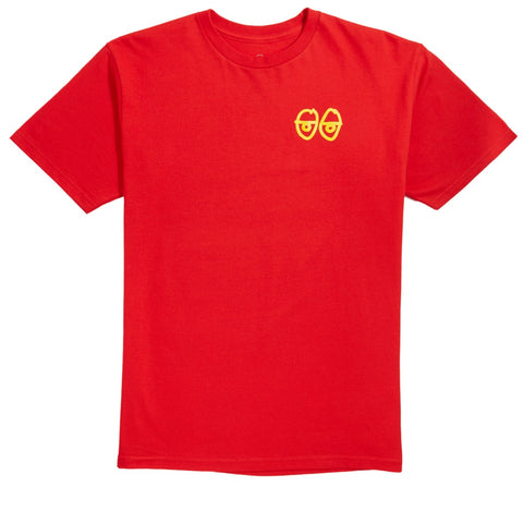 KROOKED STRAIT EYES TEE - RED/YELLOW