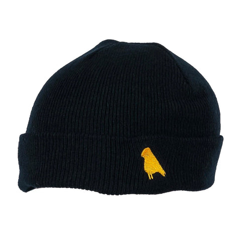 YUKI THREADS BIRD BEANIE BLACK