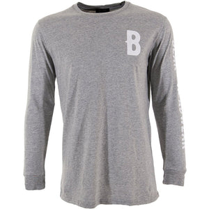 BLAK - B ROLL LONG SLEEVE TEE - GREY