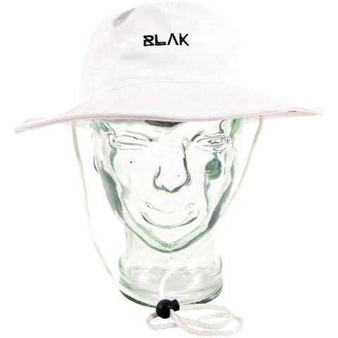 BLAK - SIDE HIT SOCIAL CLUB BUCKET HAT - WHITE