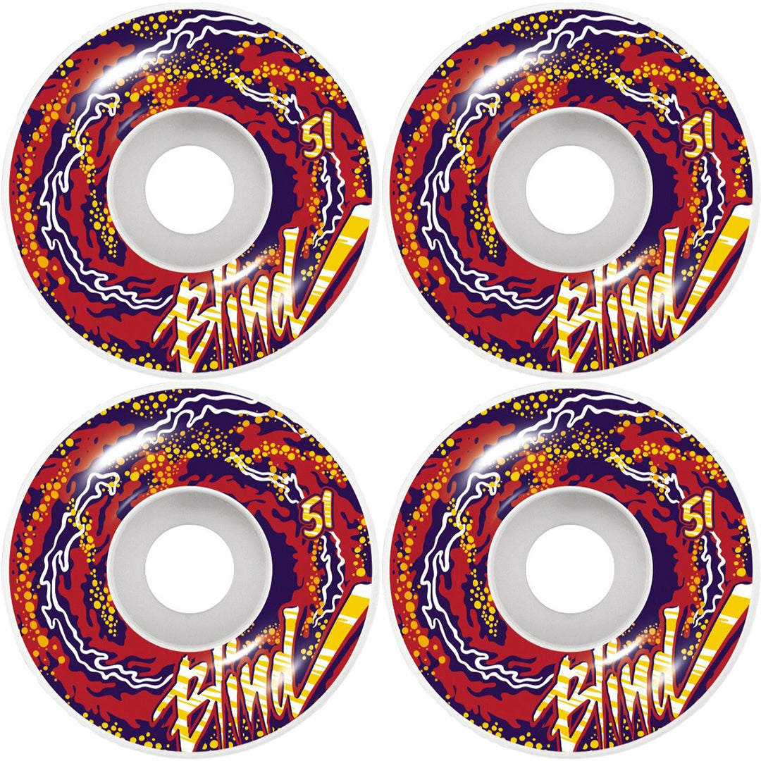 BLIND DAMN TRIP OUT WHEELS WHITE/RED 51MM