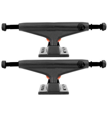 "INDUSTRIAL SKATEBOARD TRUCKS 5.25"" - BLACK/BLACK"