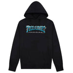 THRASHER BLACK ICE HOODIE - BLACK