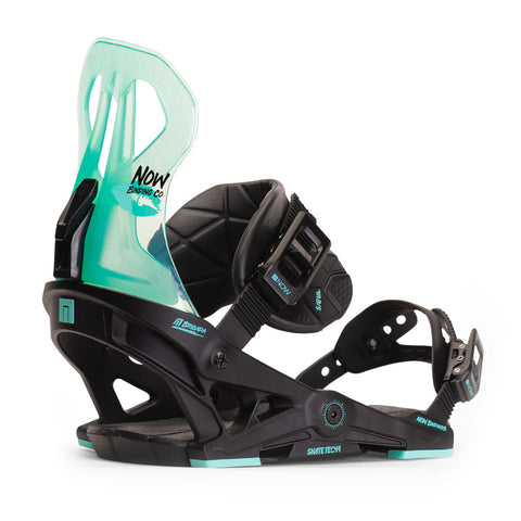NOW BRIGADA 2020 WOMENS BINDINGS BLACK/TURQUOISE
