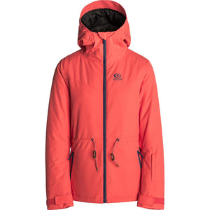 RIP CURL - BETTY PLAIN WOMENS JACKET - HOT CORAL