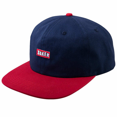 BAKER CAP - NAVY/RED