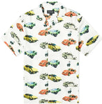 BRONZE WRECKED CARS BUTTON UP SHIRT WHITE