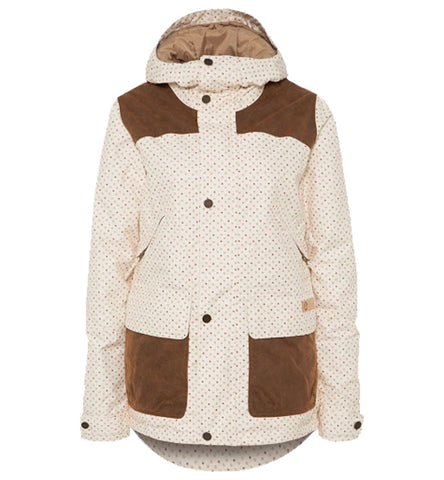 BURTON BRIGHTON WOMENS JACKET - CANVAS/DOT