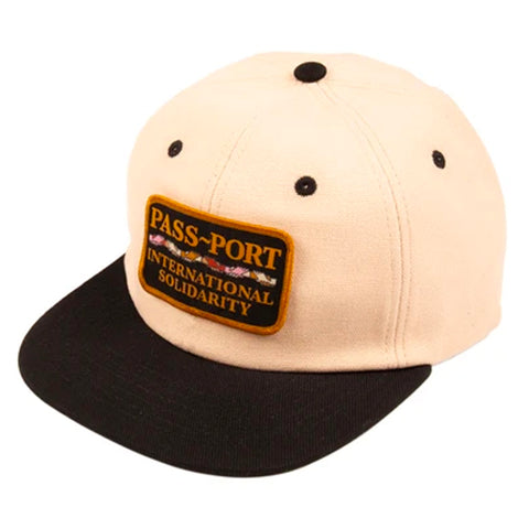 PASSPORT INTERSOLID PATCH 5 PANEL CAP - NATURAL/BLACK