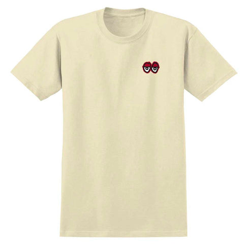 KROOKED STRAIT EYES TEE - CREAM/RED