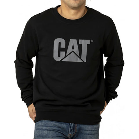 CAT TRADEMARK LOGO CREW BLACK