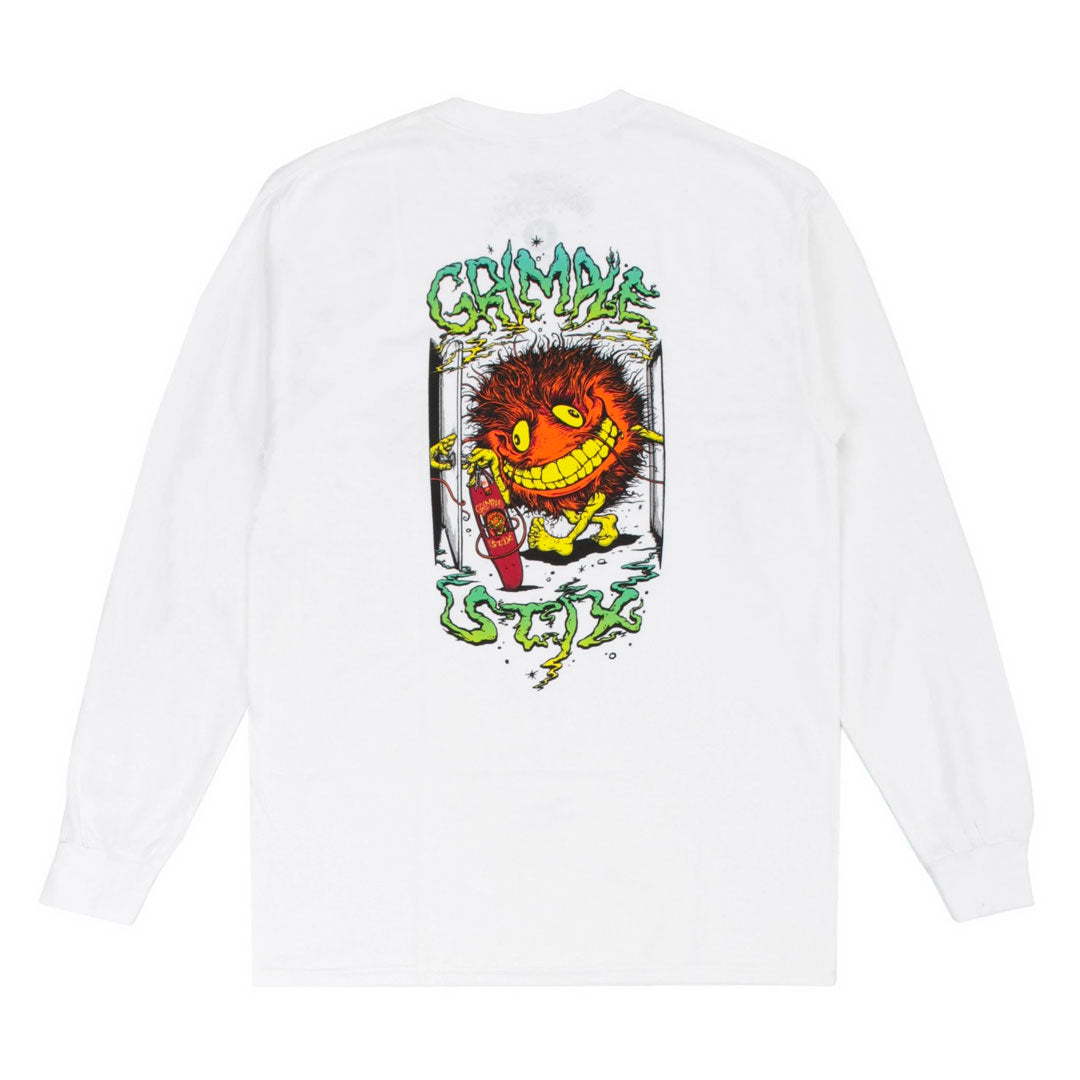 CREATURE GRIMPLE L/S TEE WHITE