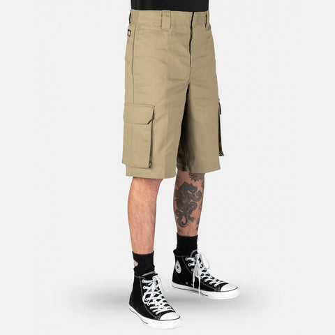 DICKIES - 131 SLIM STRAIGHT CARGO SHORTS - KHAKI