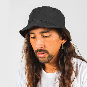 DICKIES STAMFORD REVERSIBLE BUCKET HAT BLACK/KHAKI