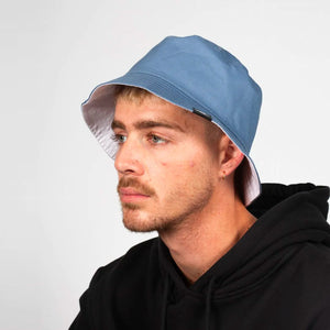 DICKIES STAMFORD REVERSIBLE BUCKET HAT BLUE/WHITE