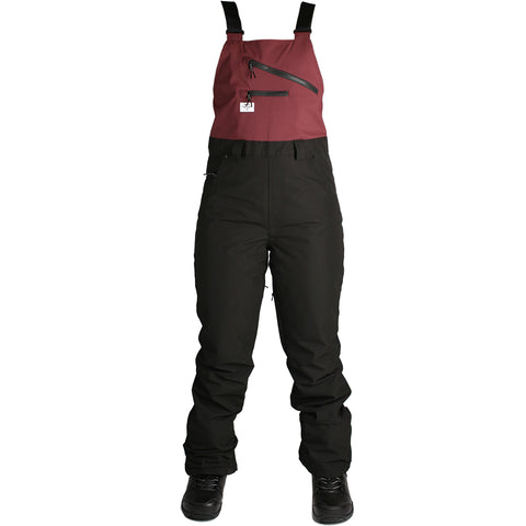 RIDE EMERALD 2019 WOMENS BIB BLACK BURGUNDY
