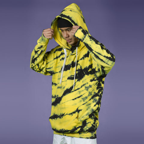 FYVE BACKSLASH HOODIE YELLOW TIE DYE