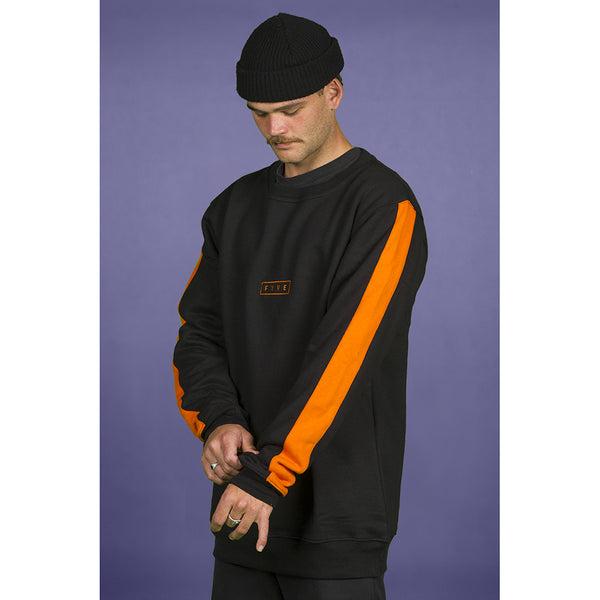 FYVE - SIMPLE CREW NECK 2020 - BLACK ORANGE
