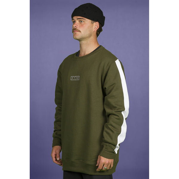 FYVE - COTTON CREW NECK 2020 - OLIVE WHITE