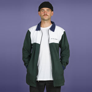 FYVE - FULL ZIP POLY FLEECE - WHITE OLIVE