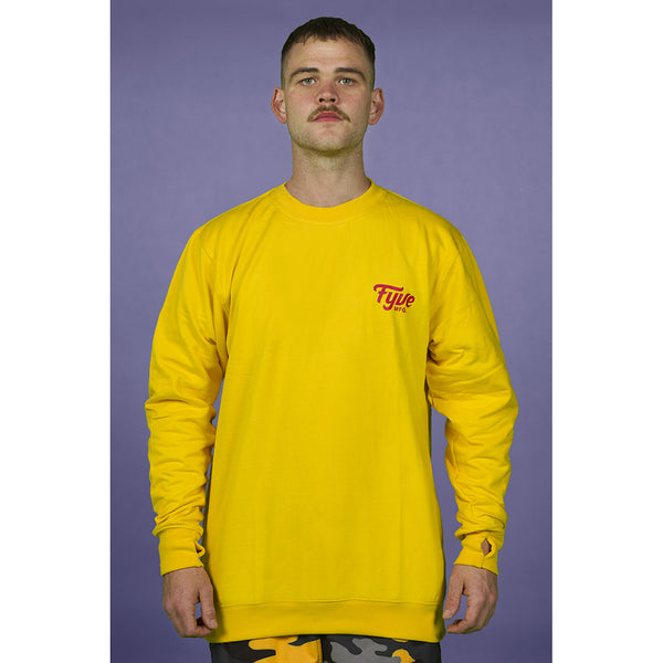 FYVE MFG TEAM CREW-NECK YELLOW