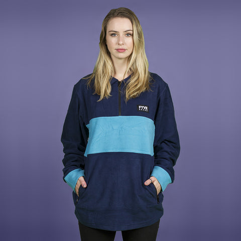 FYVE POLY FLEECE NAVY BABY BLUE