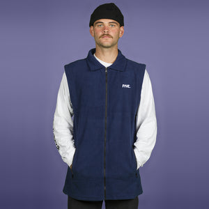 FYVE - SLEEVELESS POLY FLEECE - NAVY