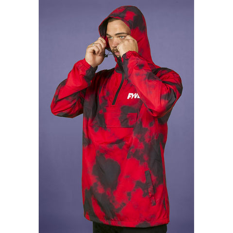 FYVE - SPRAY JACKET - RED TIE DYE