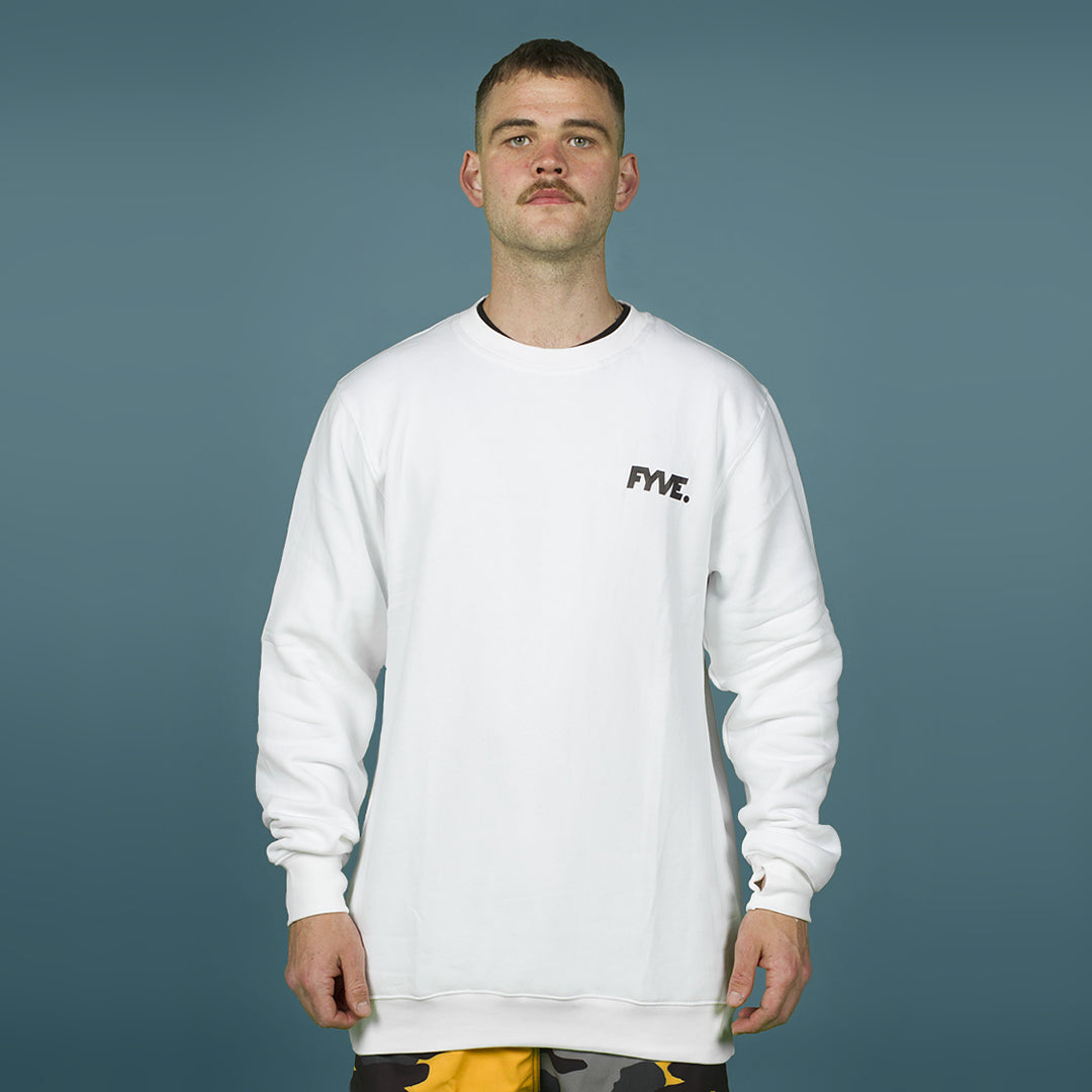 FYVE TEAM CREW-NECK WHITE