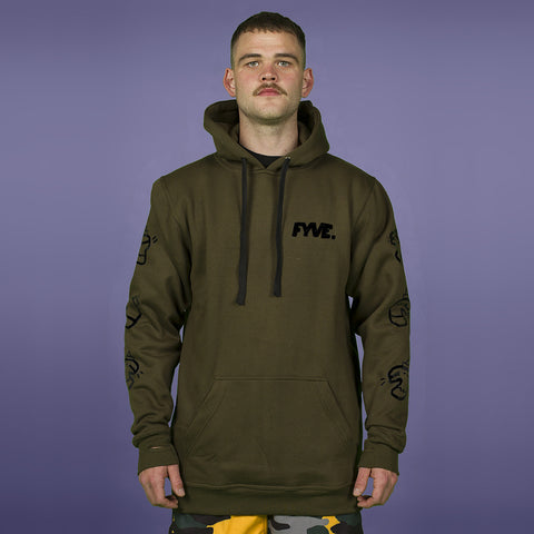 FYVE TEAM HOOD ARMY GREEN