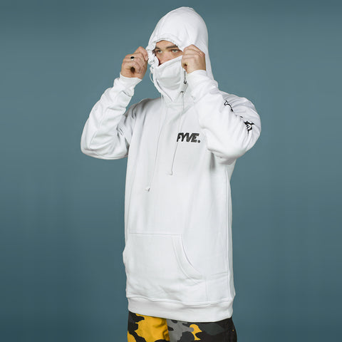 FYVE TEAM HOOD W/ ATTACHED FACE-MASK WHITE