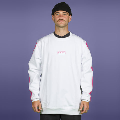 FYVE WATERPROOF CREW-NECK 2020 WHITE PINK