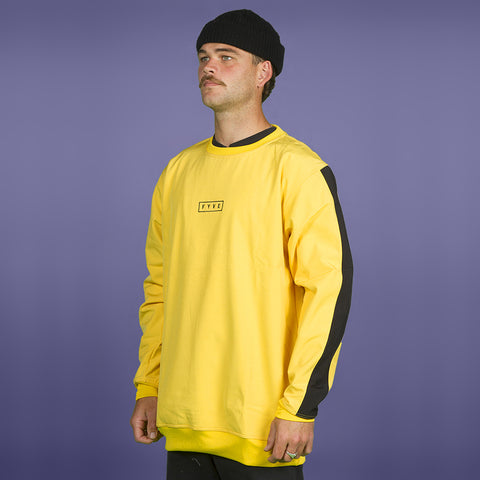 FYVE WATERPROOF CREW-NECK 2020 YELLOW BLACK