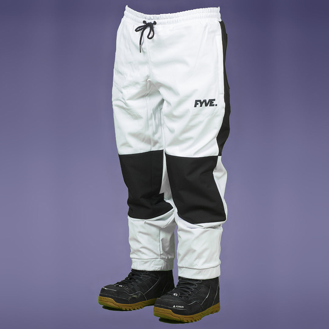 FYVE WATERPROOF TRACKIES WHITE BLACK