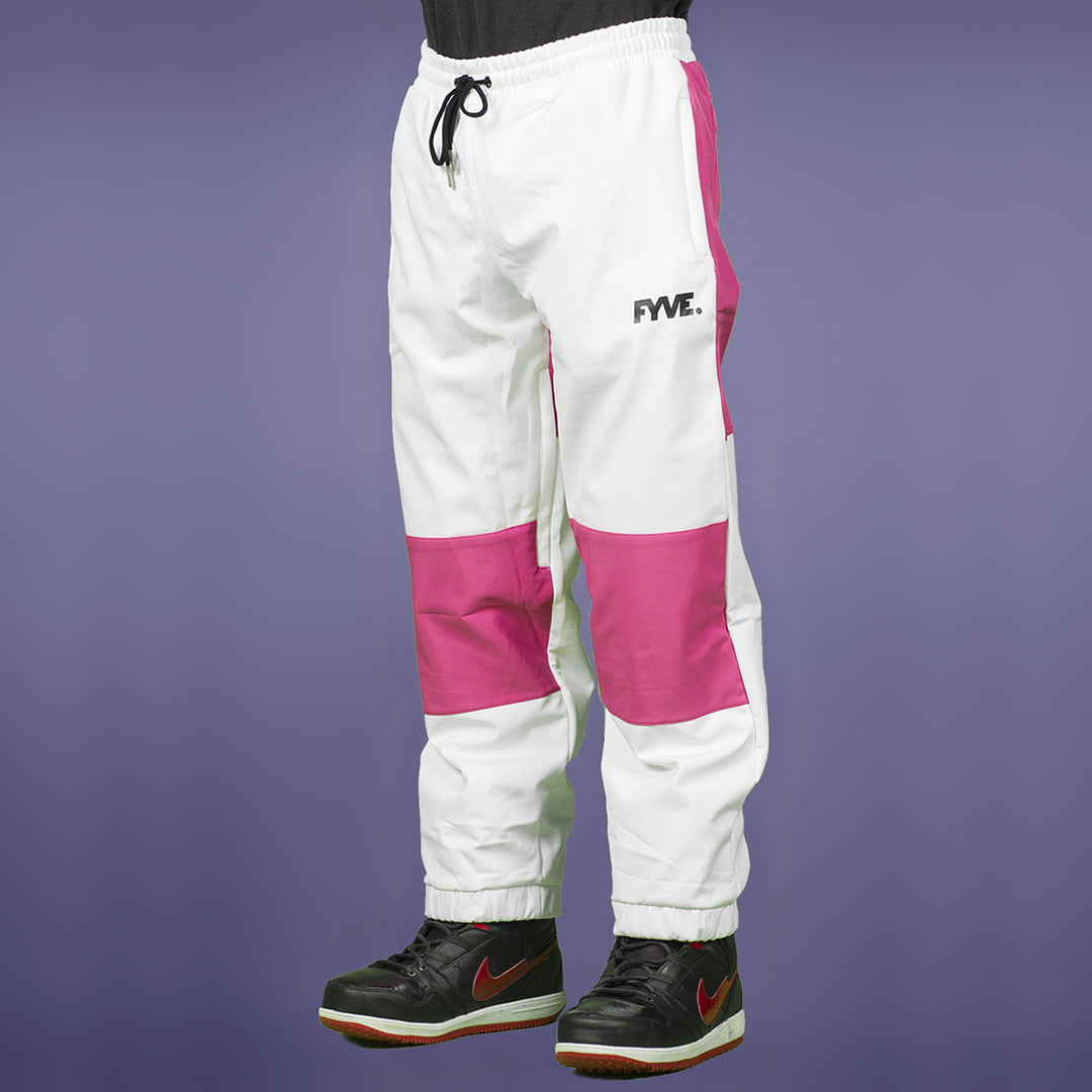 FYVE WATERPROOF TRACKIES WHITE PINK