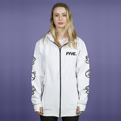 FYVE WATERPROOF ZIP TEAM HOOD 2020 WHITE