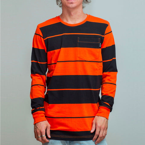 FYVE LONG SLEEVE TEE ORANGE/BLACK