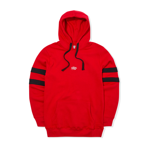 FYVE RED w/BLACK ARMS HOODY