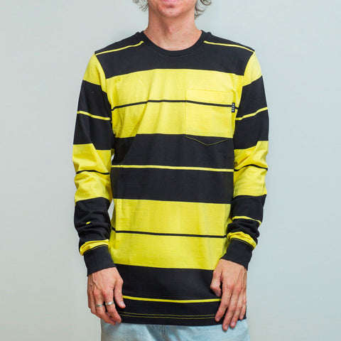 FYVE LONG SLEEVE TEE YELLOW/BLACK