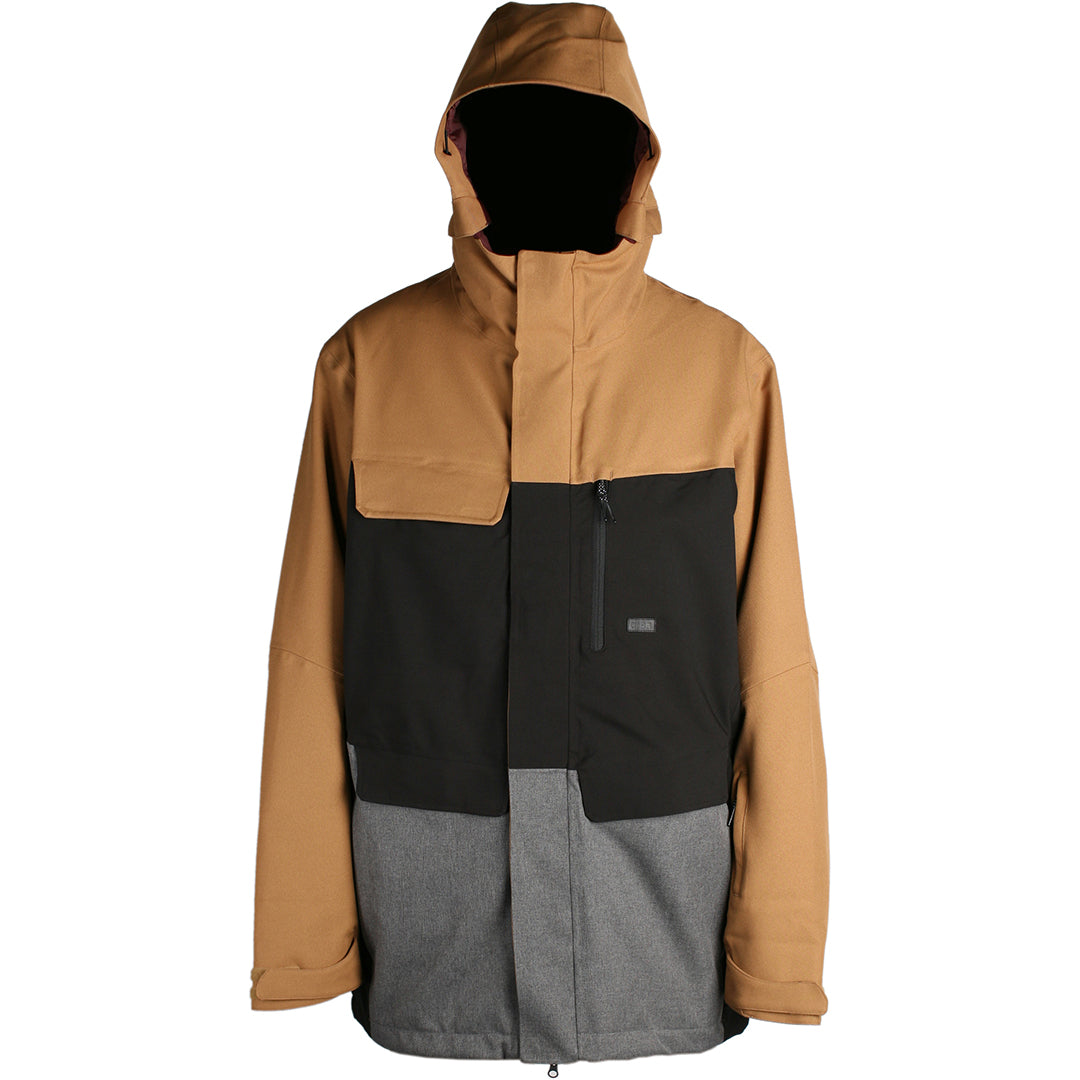RIDE - GEORGETOWN - MENS JACKET - CAMEL/BLACK/CHARCOAL