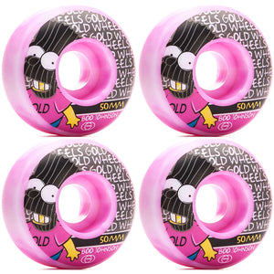 GOLD - BRAT BOO JOHNSON WHEELS - PINK - 50MM