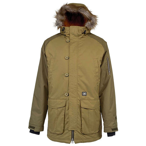L1 GRIMEY MENS JACKET BRUSH MILITARY