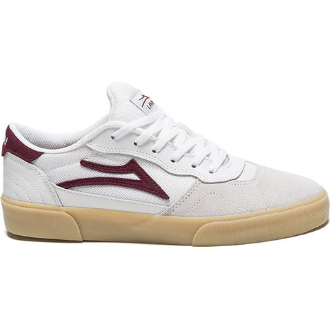 LAKAI - CAMBRIDGE - WHITE/BURGUNDY