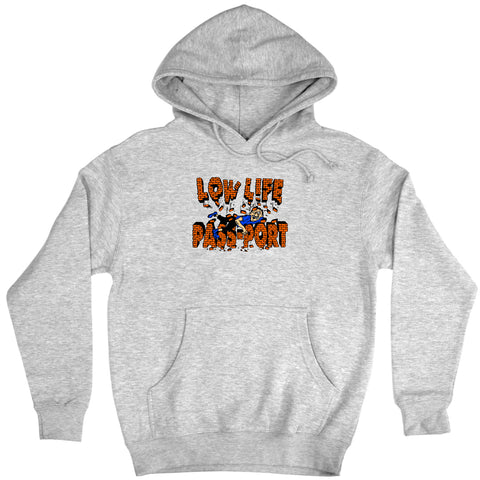 PASSPORT L.L BRICK HOODIE - HEATHER GREY