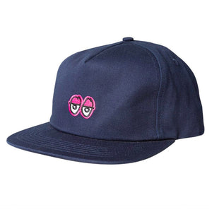 KROOKED EYES STRAPBACK CAP - NAVY