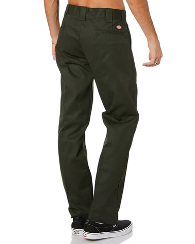DICKIES - 873 SLIM STRAIGHT FIT PANTS - OLIVE