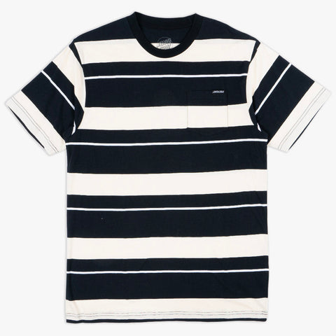 SANTA CRUZ POCKET STRIPE TEE - OFF WHITE/BLACK