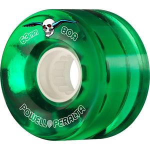 POWELL PERALTA - CLEAR CRUISER WHEELS - GREEN - 63MM