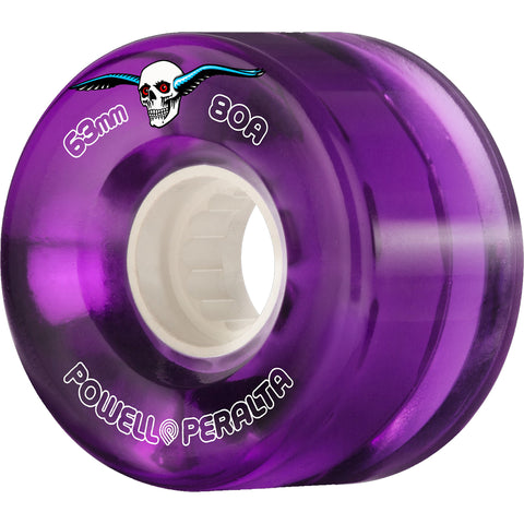 POWELL PERALTA - CLEAR CRUISER WHEELS - PURPLE - 63MM